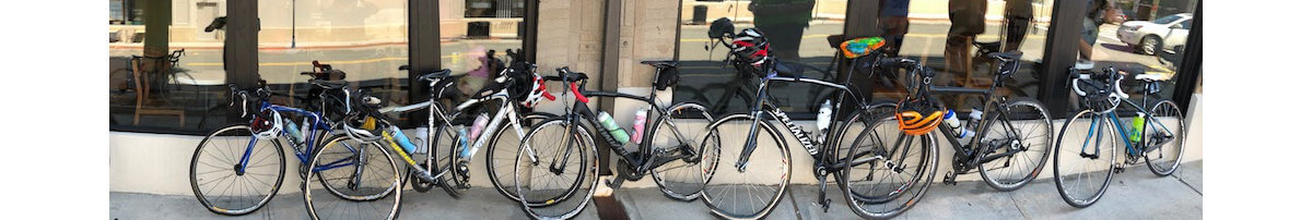 Bike At Starbucks in Westwood, NJ (Photo Credit: Dave Zornow)